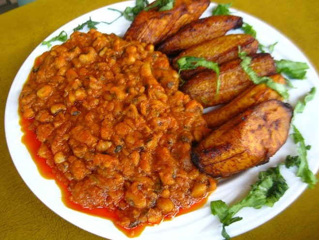 Red Red, a staple cuisine in Ghana